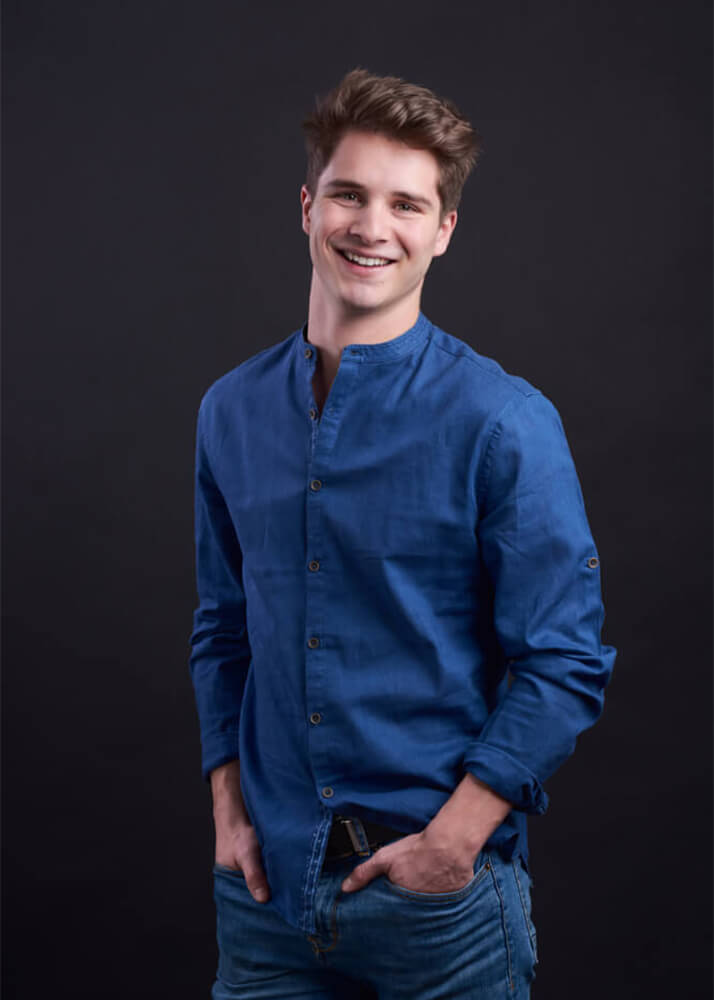Diego R modelo masculino de la agencia Plugged Models