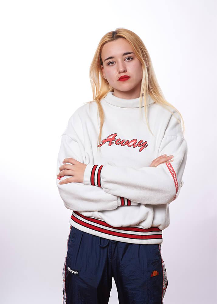 Lucía U modelo publicitaria femenina de la Agencia Plugged Models
